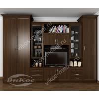 классическая мебельная стенка в зал