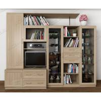 мебельная стенка в кабинет цвета шимо светлый