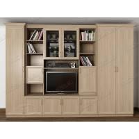 мебельная стенка с вместительным шкафом цвета шимо светлый