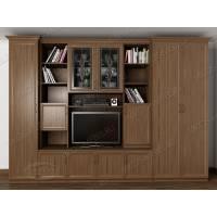 мебельная стенка с вместительным шкафом цвета шимо темный