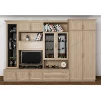 классическая мебельная стенка с вместительным шкафом