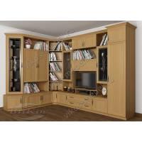 мебельная стенка в классическом стиле цвета бук