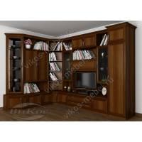 угловая мебельная стенка в классическом стиле