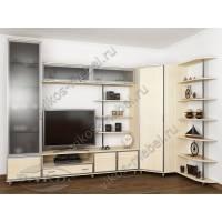 мебельная стенка для спальни цвета молочный беленый дуб