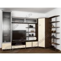 мебельная стенка для спальни цвета венге - молочный дуб
