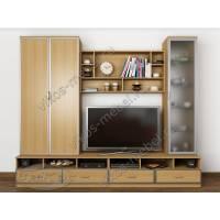 мебельная стенка с вместительным шкафом в современном стиле
