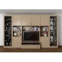 мебельная стенка под телевизор цвета шимо светлый