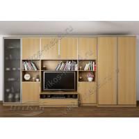 мебельная стенка для спальни цвета бук