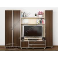 мебельная стенка для спальни цвета беленый дуб - венге