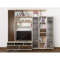 мебельная стенка модерн цвета беленый дуб - венге