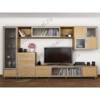 современная модульная мебельная стенка