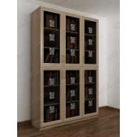 3-дверный шкаф для книг цвета шимо светлый