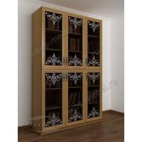 3-дверный шкаф для книг с пескоструем