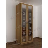 2-створчатый шкаф с распашными дверцами цвета бук