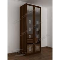 2-створчатый шкаф с распашными дверцами с зеркалом