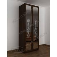 шкаф с распашными дверцами в спальню цвета венге