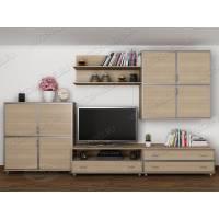 длинная модульная мебельная стенка