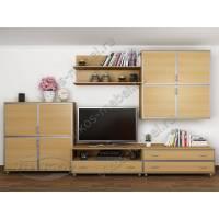 длинная мебельная стенка для спальни