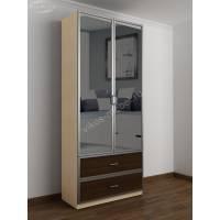 шкаф с распашными дверями в прихожую с выдвижными ящиками