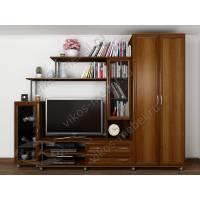 классическая мебельная стенка цвета яблоня
