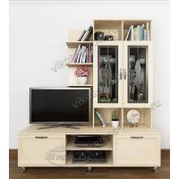 высокая мебельная стенка под телевизор