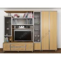 мебельная стенка с вместительным шкафом цвета бук