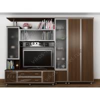 мебельная стенка для спальни цвета венге
