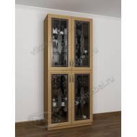 витражный модульный шкаф-витрина