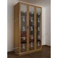 зеркальный 3-створчатый шкаф