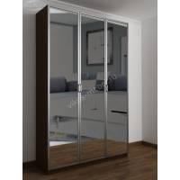 шкаф с зеркалом цвета венге - молочный дуб