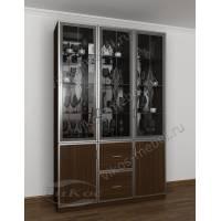 шкаф-витрина классика цвета венге