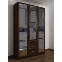 3-дверный шкаф для одежды с выдвижными ящиками