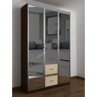 шкаф для одежды в прихожую цвета венге - молочный дуб