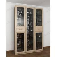 шкаф-витрина в классическом стиле цвета шимо светлый