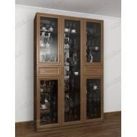 шкаф-витрина в классическом стиле цвета шимо темный