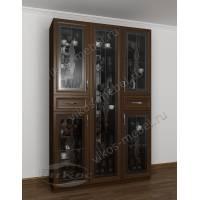 классический шкаф-витрина цвета венге