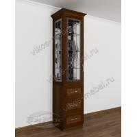 шкаф-витрина с витражом в классическом стиле