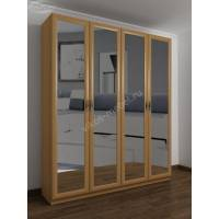 4-створчатый шкаф с распашными дверцами для спальни