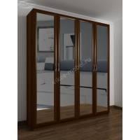 шкаф с распашными дверцами для спальни цвета яблоня