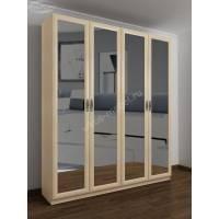 4-створчатый шкаф с распашными дверцами цвета молочный беленый дуб