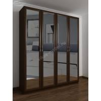 4-створчатый шкаф с распашными дверцами цвета венге