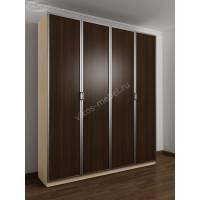 4-створчатый шкаф с распашными дверцами цвета беленый дуб - венге
