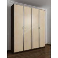 4-створчатый шкаф с распашными дверцами цвета венге - молочный дуб
