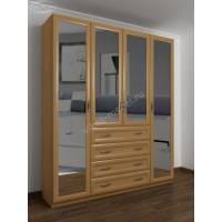 4-дверный шкаф с распашными дверями для спальни