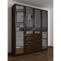 4-дверный шкаф с распашными дверями с ящиками для мелочей