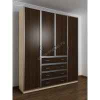 шкаф с распашными дверями для спальни с ящиками для мелочей