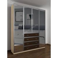 шкаф с распашными дверями для спальни цвета беленый дуб - венге