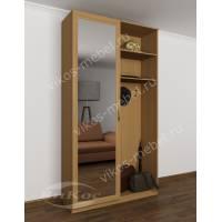 зеркальная прихожая в коридор со шкафом