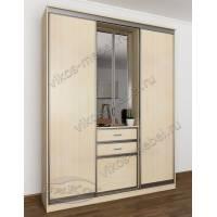 узкая прихожая в квартиру с зеркальной дверью