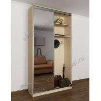 мини прихожая с открытой частью с зеркальной дверью